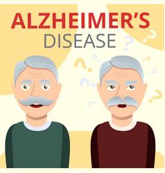 Alzheimers disease concept background cartoon vector