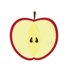 apple half icon vector image