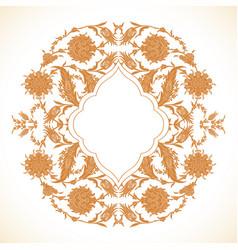 Arabesque vintage gold decor ornate pattern vector