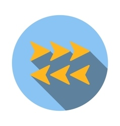 Arrows to left and right icon flat style vector image