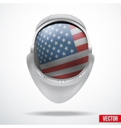 Astronaut helmet with flag USA vector