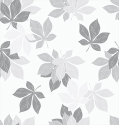 Background of chestnut leaves vector image