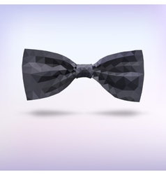 Black fashion bow tie of triangles vector image