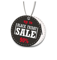 black friday sale up to 90 tag isolated on a vector image