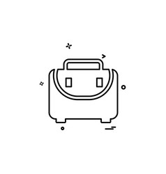 briefcase business case portfolio suitcase icon vector image