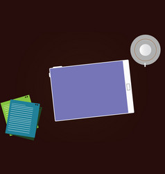 Business empty template for layout for invitation vector