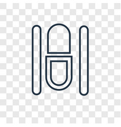 capsule concept linear icon isolated on vector image