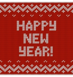 Card of Happy New Year 2015 with knitted texture vector image