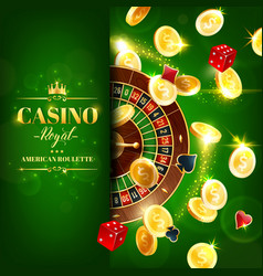 casino roulette wheel dice online gambling games vector image
