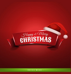 christmas banner with santa hat vector image