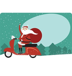 Christmas card with copy space vector image