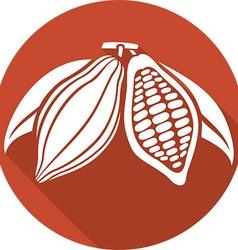 Cocoa Beans Icon vector