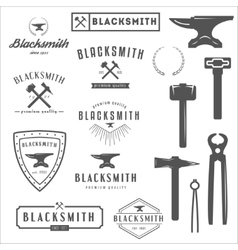 Collection logo elements and logotypes vector