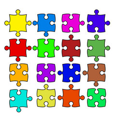 color puzzle stock vector image