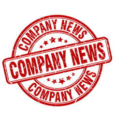 company news red grunge stamp vector image