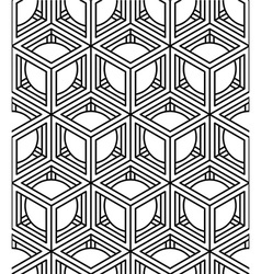 continuous monochrome pattern decorative abstract vector image