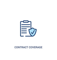 Contract coverage concept 2 colored icon simple vector