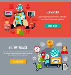E-commerce horizontal banners vector