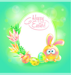 Festive ground happy easter easter bunny vector