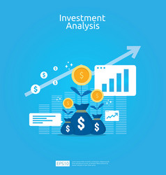 financial investment analysis concept for vector image