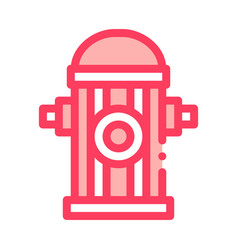 fire street hydrant icon outline vector image
