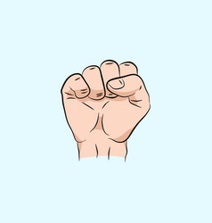 fist held high in protest vector image