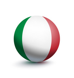 flag of italy in the form of a ball vector image