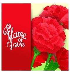 Flame of love quote poster vector