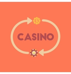 Flat icon on stylish background casino chips vector