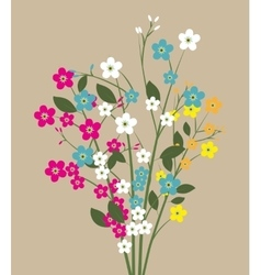 Forget me not flowers vector