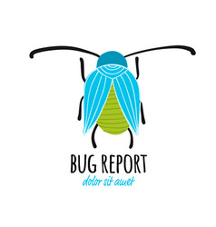 funny beetle bug character for your design vector image