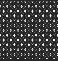 geometric pattern with rhombuses vector image