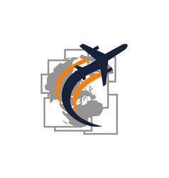 Global traveling travel around world vector