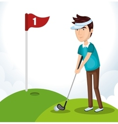 Golf club golfer avatar vector
