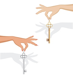 holding key vector image