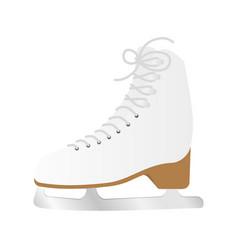 ice skate shoe vector image