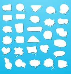 Icon set of empty speech bubbles think clouds vector image