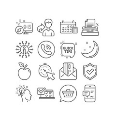 Idea quick tips and typewriter icons credit card vector