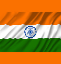 Indian national tricolor flag 3d vector