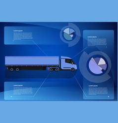 infographic banner cargo truck trailer vehicle vector image