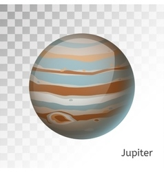 Jupiter planet 3d vector image
