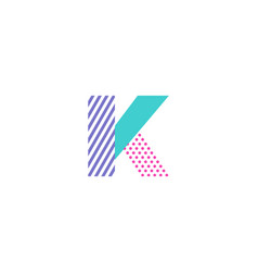 K geometric letter logo icon design vector