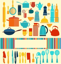 kitchenware set - background vector image