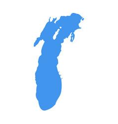 Lake michigan silhouette vector