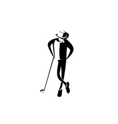 man hat golfer vector image