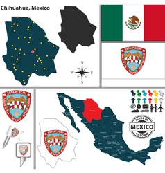 Map of Chihuahua vector image