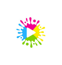 media paint logo icon design vector image