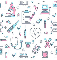 medical seamless pattern clinic vector image
