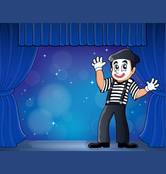 Mime theme image 3 vector