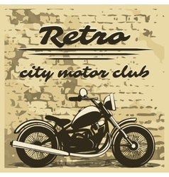 motorcycle design on distressed background vector image
